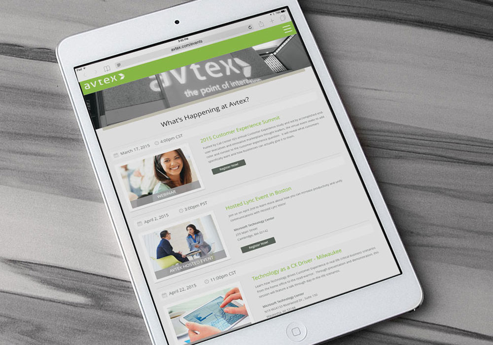 Avtex Website Design and Prototype
