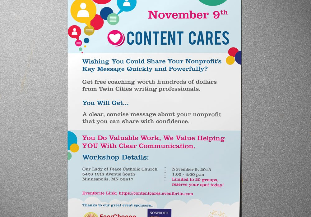 Content Cares Poster