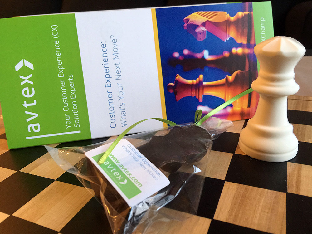 Avtex Customer Experience Brochure and Chocolate
