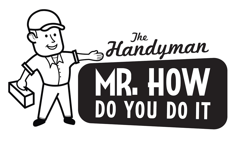 Mr. How Logo in Black and White
