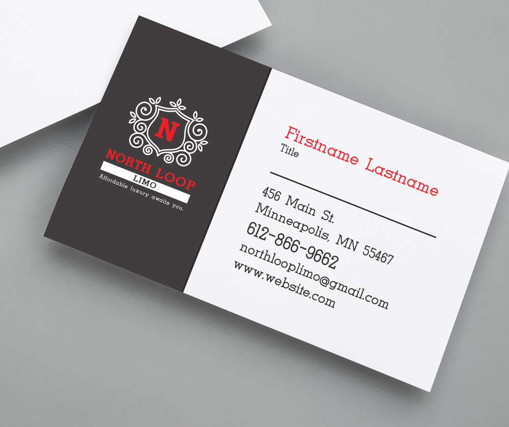 North Loop Limo Business Card Design