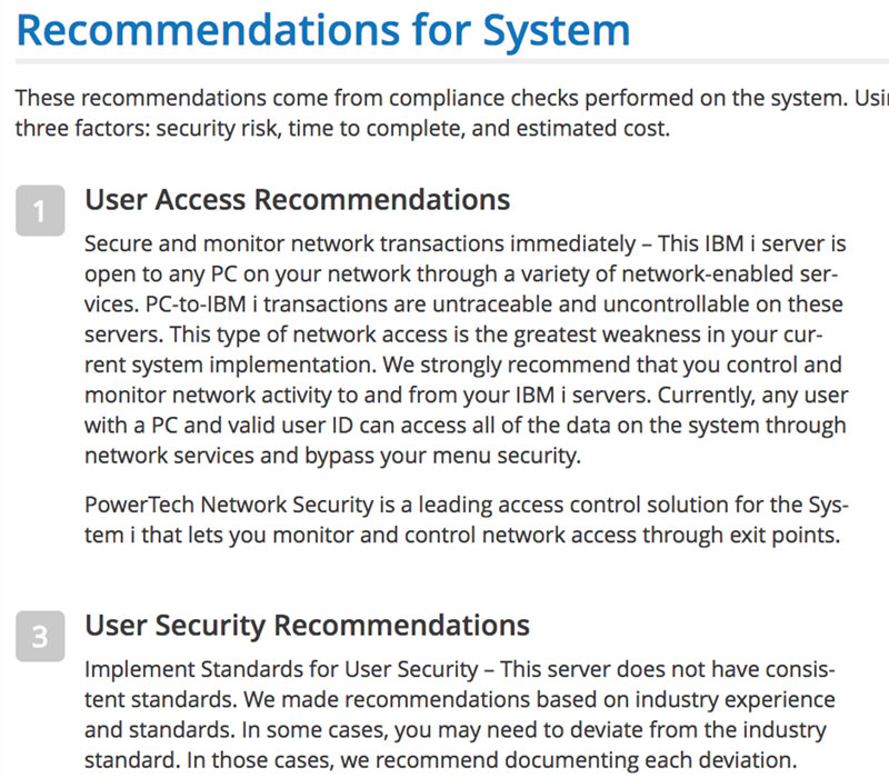 Security Scan Feature - Recommendations