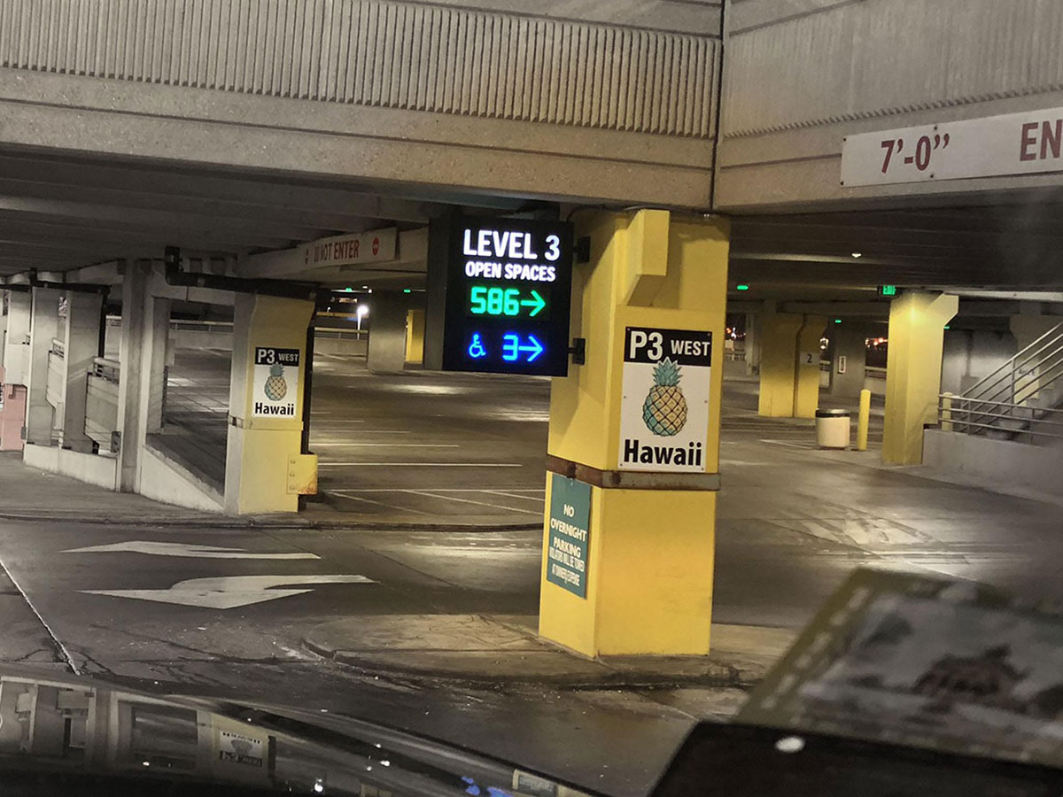 Open Parking Spot Count at Mall of America at Each Level