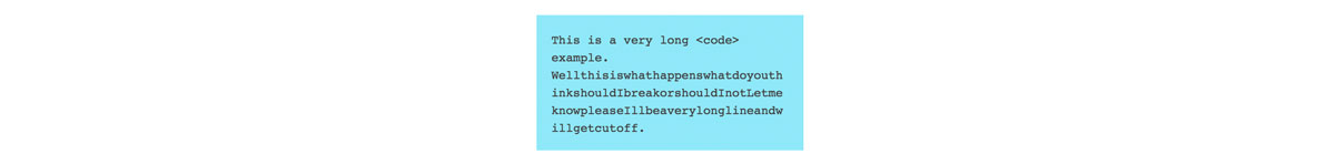 Code block example